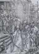 """After Albrecht Durer (1471-1528) Woodcut """"Ecce Homo"""", from the Large Passion, with watermark"""