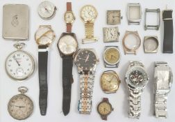 Quantity of gent's watches to include Everite King wristwatch, Poljot wristwatch, Sekonda pocket