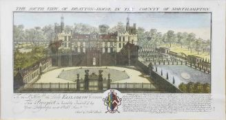 After Samuel and Nathaniel Buck Four reproduction colour prints South East View of Warwick Castle,