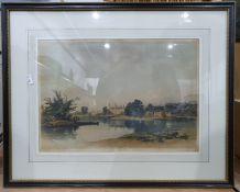 Prints and watercolours, botanical scenes, landscapes, etc (6)