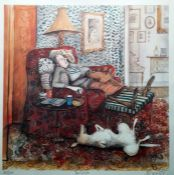 """After Sue Macartney-Snape (b.1957) Limited edition colour print """"The Siesta"""", signed and titled"""