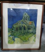 """After Van Gogh Colour print """"Manon Lescaut"""" After Behrens and another(3 total)"""