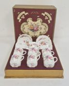 Royal Crown Derby china 'Derby Posies' tea set for six persons, to include six cups and saucers