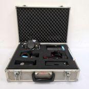 Prakticar BC3 electronic camerawithPentacon 1-1.8 F=50mm lensin padded aluminium carrying case