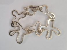 Foreign silver abstract link bracelet, 39g approx