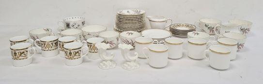 Quantity Royal Worcester Dunrobin pattern tea china,set of six Royal Worcester Windsor pattern