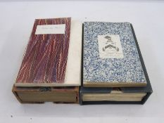 Boxed sets of early 19th c. Ordnance Survey mapsfor Yorkshire andfor Gloucestershire (2)