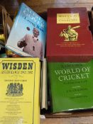 Cricketing interest -Quantity of books to include Wisden , autobiographies, biographies, playing