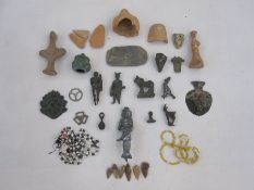 Quantity of copper alloy and pottery artefacts