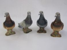 Four Beswick pigeons, no.1383, in various shades of grey and brown (4) Part of the Wildfowl and
