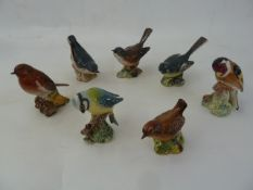 13 various Beswick model birdsto include blue tit, greenfinch and nuthatch (13) Part of the