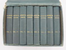 Set of 'Miniature Poets', Milton, Wordsworth, Longfellow, Scott, all within their own fitted box,