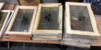 Leaded glazed windows and frames Condition Report3 frames have damaged glass, one with broken glass,