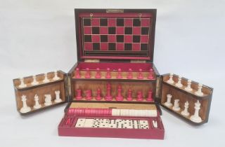 """""""The Royal Cabinet of Games"""" coromandel games compendium, rectangular with rounded hinged lid,"""