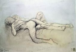 Ralph Brown (1920-2013) Artist's proof lithograph Two nude figures, signed, mounted and unframed,