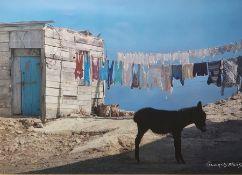 Set of three photographs of Mediterraneanscenes, signed 'Genges Meis', 24.5cm x 37cm (3)