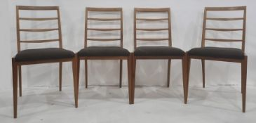 20th century teak McIntosh dining table and four ladderback chairs(5) Condition ReportThere is a