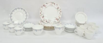 Minton 'Hoylake' pattern part tea service, no.B1456 to base, a set of five Minton dinner plates,