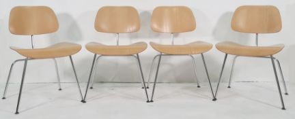 Set of six modern reproduction Charles Eames for Vitra plywood chairs(6) Condition ReportChair 1 -