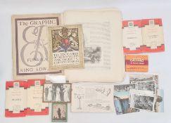 Quantity of ephemera to include old Ordnance survey maps, Meccano instruction booklets, set plates