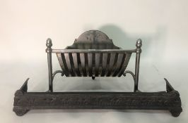 Small fireplace grate and fender (2) Condition ReportThe Basket is 37cm at the widest point and the