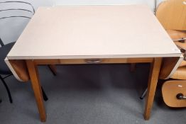 20th century melamine-topped table