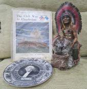American Interest to include George Washington Bi-centennial plate by Ivory Lambert Scammel, A