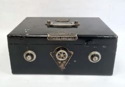 Misono black japanned steel 'Handsafe'with key and dials (locked), 36cm wide