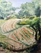 Olive Dring (20th century school) Watercolour Landscape scene, signed lower left, 38cm x 30cm