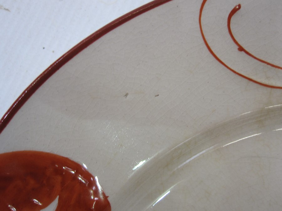 Set of 12 French lobster decorated plates, marked to base 'Rorstrand', in red, decorated with - Image 5 of 7