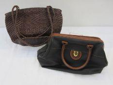 Stefano Delara bowling bag-style bagand a plaited leather unlabelled brown shoulder bag(2)