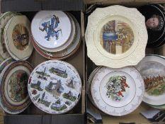 Assorted platesto include Royal Winton 'Shakespeare' series, Argyll 'London Pride', Silver