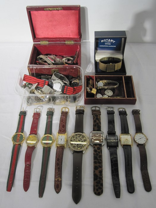 Quantity of lady's and gent's vintage and later watches(2 boxes)