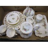 Royal Albert 'Moss Rose' pattern part tea set (1 box)