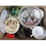 Bunnykins china bowl, two miniature character jugs, Royal Stafford china part tea serviceand
