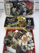 Large quantity of modern costume jewelleryto include necklaces and bangles