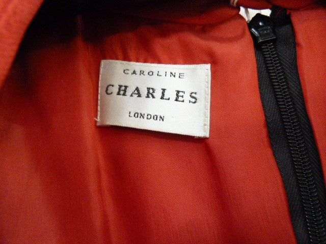 Black corduroyfitted coatlabelled 'Paddy Campbell', three button fastening, a black suitwith gold - Image 5 of 6