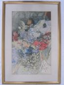 20th century school Watercolour Floral study of hydrangeas, unsigned, 53.5 x 33cm