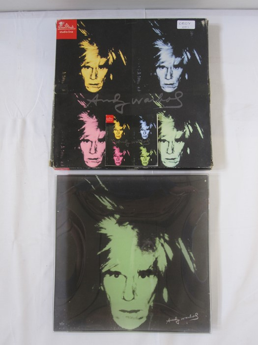 Rosenthal 'Andy Warhol' square glass plate in original box, 29cm  Condition ReportThere is a tiny