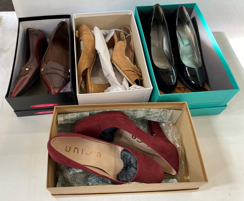 Various designer shoesin original boxes, to include Yves Saint Laurent, Unisa, Hogan, Martini - Image 2 of 2