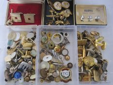 Quantity of cufflinks, studs and similar items (6 boxes)