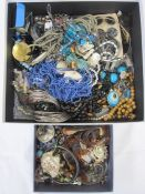 Large quantity of costume jewellery, mainly modern (2 boxes)