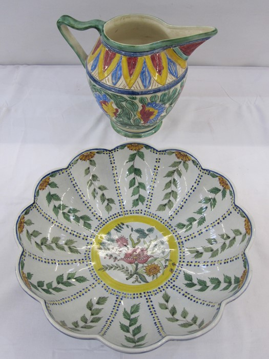 Portuguese Carvalhinho Porto bowl, no P-227 and a jug (2)