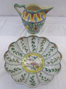Portuguese Carvalhinho Porto bowl, no P-227 and a jug (2)