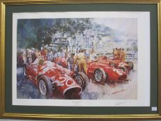"Craig Warwick Limited edition print ""Maserati Team"" 1956 Monaco Grand Prix, No. 236 of 500, signed"