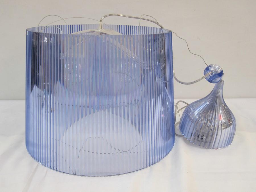 Cartell pale blue transparent plastic ceiling light, designed by F.Laviani Condition ReportAppears