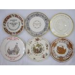 Quantity of collectors plates to include Royal Worcester 'New Zealand Cricket Team 1973, Worcester