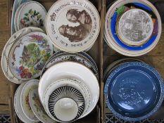 Upsala-Ekeby Swedish 'Zebra' cup and saucer, various commemorative plates, decorative plates, etc (1