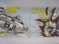 "After Roy Lichtenstein Two colour prints  ""I Pressed the Fire Control ..."" and ""Wham"" in click"