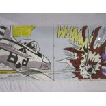 """After Roy Lichtenstein Two colour prints """"I Pressed the Fire Control ..."""" and """"Wham"""" in click"""